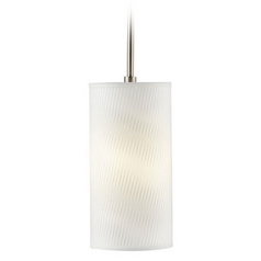 Hart Lighting Satin Nickel / Bronze Mini-Pendant Light with Cylindrical Shade