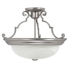 Capital Lighting Matte Nickel Semi-Flushmount Light