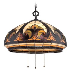 Quoizel Tiffany Vintage Bronze Pendant Light