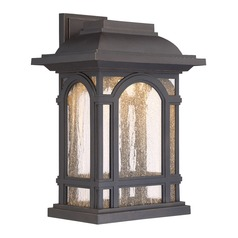 Quoizel Lighting Cathedral LED Palladian Bronze Outdoor Wall Light