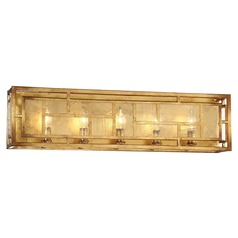 Metropolitan Lighting Edgemont Park Pandora Gold Leaf Bathroom Light
