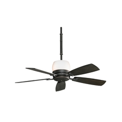 Fan with Light with White in Dark Smoke Finish