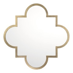 Capital Lighting Brushed Gold Square Mirror 33.76x33.75