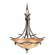 Monterey Autumn Patina Pendant Light with Bowl / Dome Shade by Vaxcel Lighting