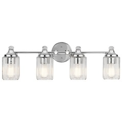 Transitional Bathroom Light Chrome Riviera by Kichler Lighting