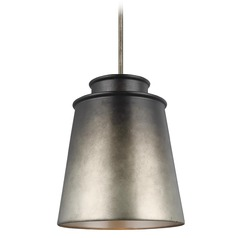 Feiss Lighting Fiona Oil Can Grey Pendant Light with Empire Shade