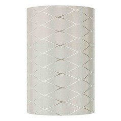 Uno Cylindrical Off White Diamond Overlay Lamp Shade