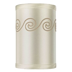 Uno Cylindrical Wave Silhouette Lamp Shade