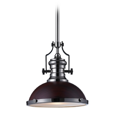 LED Pendant Light in Polished Nickel Finish