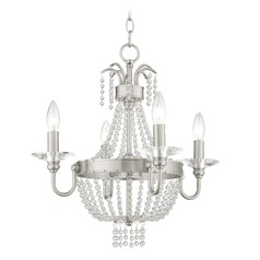 Livex Lighting Valentina Brushed Nickel Mini-Chandelier