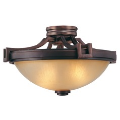 Metropolitan Lighting Underscore Cimmaron Bronze Semi-Flushmount Light