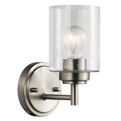 Seeded Glass Sconce Brushed Nickel Winslow by Kichler Lighting