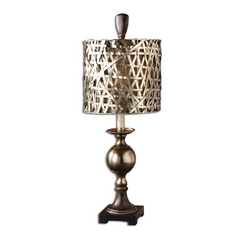Console & Buffet Lamp in Antique Silver Finish