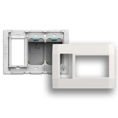 Deako Smart Switch Three Gang Housing Kit with Outlet on Left