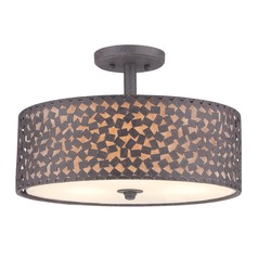 Quoizel Lighting Confetti Rustic Black Semi-Flushmount Light