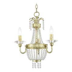 Livex Lighting Valentina Hand Applied Winter Gold Mini-Chandelier