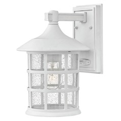 Seeded Glass Outdoor Wall Light Classic White Hinkley Lighting