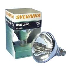 Sylvania Lighting R40 Red Heat Lamp Light Bulb - 250-Watts 14663