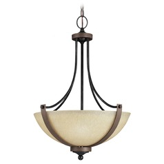 Sea Gull Lighting Corbeille Stardust / Cerused Oak Pendant Light