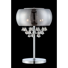 Lite Source Othello Chrome Table Lamp with Oblong Shade