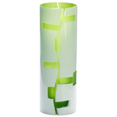 Cyan Design Danish White & Green Vase