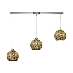 Illusions Polished Chrome Multi-Light Pendant with Bowl / Dome Shade