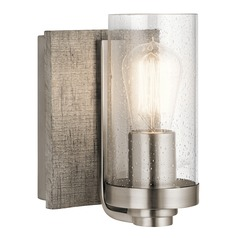 Seeded Glass Sconce Pewter Dalwood by Kichler Lighting