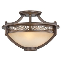 Metropolitan Lighting Ajourer French Bronze Semi-Flushmount Light