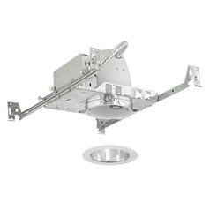 Recesso Lighting 4-Inch Non-IC Recessed Light Kit with White Trim