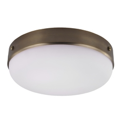 Feiss Lighting Cadence Dark Antique Brass Flushmount Light