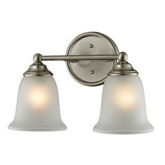 Cornerstone Lighting Sudbury Brushed Nickel Bathroom Light