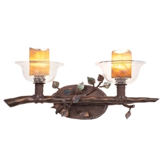 Kalco Lighting Cottonwood Sienna Bronze Bathroom Light