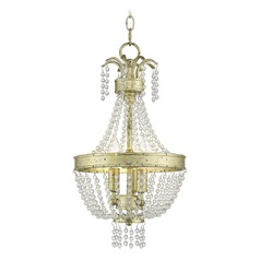 Livex Lighting Valentina Hand Applied Winter Gold Mini-Pendant Light
