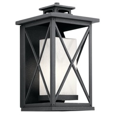 Kichler Lighting Piedmont Distressed Black Outdoor Wall Light
