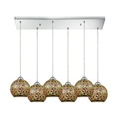 Illusions Polished Chrome Multi-Light Pendant with 6 Lights