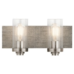 Seeded Glass Bathroom Light Pewter Dalwood by Kichler Lighting