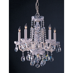 Crystal Mini-Chandelier in Polished Chrome Finish