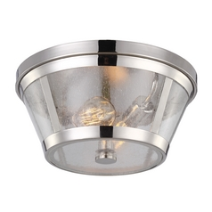 Feiss Lighting Harrow Polished Nickel Flushmount Light