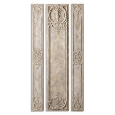 Uttermost Argentario Aged Ivory Panels, Set of 3