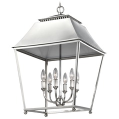 Feiss Lighting Galloway Polished Nickel Pendant Light