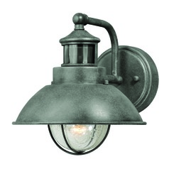 Seeded Glass Outdoor Wall Light Gray Vaxcel Lighting