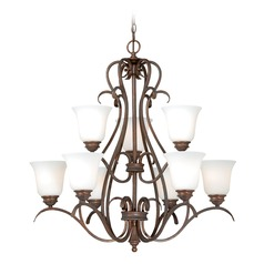 Hartford Weathered Patina Chandelier by Vaxcel Lighting