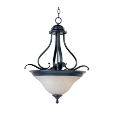 Pendant Light with White Glass in Black Finish