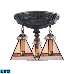 Elk Lighting Mix-N-Match Aged Walnut LED Semi-Flushmount Light