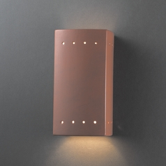 Outdoor Wall Light in Terra Cotta Finish