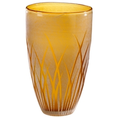 Cyan Design Aquarius Amber & White Vase