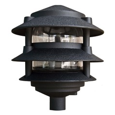 Black Cast Aluminum Three Tier Pagoda Light