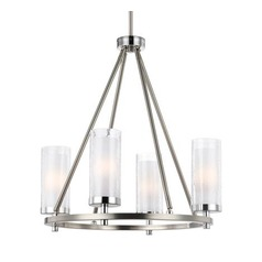 Feiss Lighting Jonah Satin Nickel / Chrome Mini-Chandelier