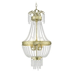 Livex Lighting Valentina Hand Applied Winter Gold Pendant Light
