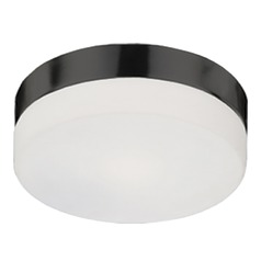 Kuzco Lighting Modern Bronze Flushmount Light with White Opal Shade